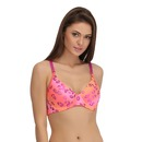 Animal Print Padded T-shirt Bra with Detachable Straps