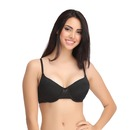 Padded Underwired Full Cup Bra - Black