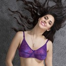 Polyamide Non-padded Wirefree Bra In Purple