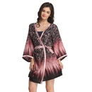 Classic Floral Printed Robe