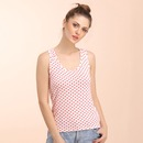 Cotton Polka Dot Tank Top with Racerback