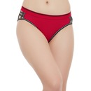 Cotton Mid Waist Bikini with Cut-Out Sides