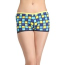 Cotton Mid-Waist Printed Boyshorts with Trimmed Elastic