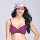 Cotton Non-Padded Wirefree Demi Cup Bra - Purple