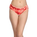 Cotton Printed Mid-Waist Hipster - Orange