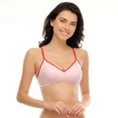 Cotton T-Shirt Bra In Pink
