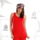 Cozy Thermal Tank Top In Red