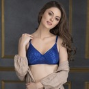 Lace Padded Non-Wired Full Cup Bra