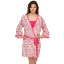 Floral Printed Robe In Pink