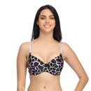 Padded Push Up Demicup Underwired T-Shirt Bra With Detachable Straps - Purple