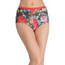 Printed High-Waist Boyshorts - Red