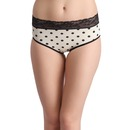 Mid Waist Polka Bikini with Lace Waistband