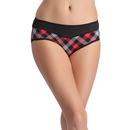 Checked Panty with Powernet Waistband