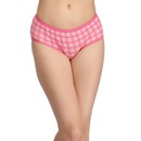 Printed Mid-Waist Hipster - Pink