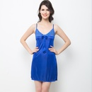 Sexy Short Nightdress In Royal Blue With Laces