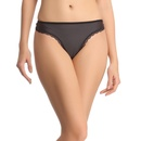 Soft Polyamide Thong In Black
