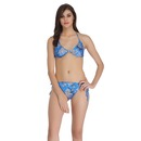 String Bra Brief Set - Blue