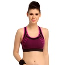 Cotton Spandex Sports Bra With Cross Back Straps