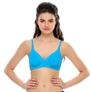 Turquoise Blue Cotton T-Shirt Bra
