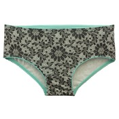 Cotton Mid Waist Floral Print Hipster