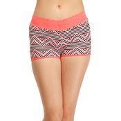 Cotton Rich Mid Waist Printed Boyshorts with Lace Band