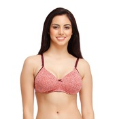 Cotton Rich Padded Non-Wired T-shirt Bra with Detachable Straps