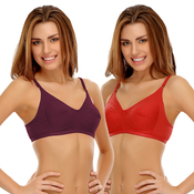 Pack Of 2 Cotton Non-Padded Wirefree Full Cup Bra