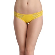 Cotton Low Waist Bikini Panty with Mesh Sides