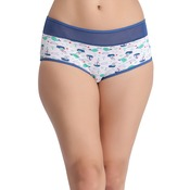 Cotton Printed Mid Waist Hipster Panty