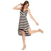 Sailor Stripe Dress In Black