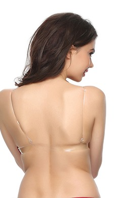 Bra with Detachable Transparent Back & Shoulder Straps