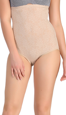 Tummy Control High Waist Brief In Skin
