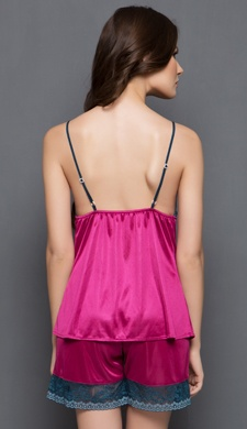 Camisole and Shorts Set in Purplish Pink