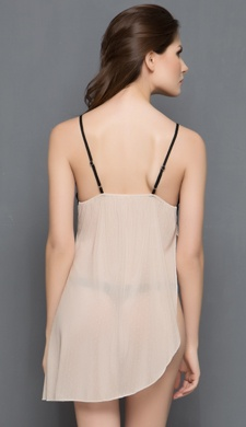 Chic Babydoll In Skin Colour