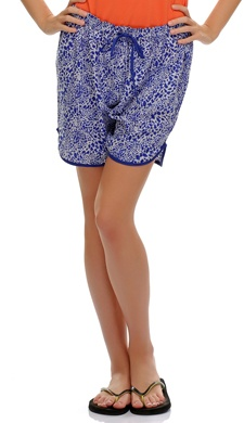 Chic Printed Shorts In Blue