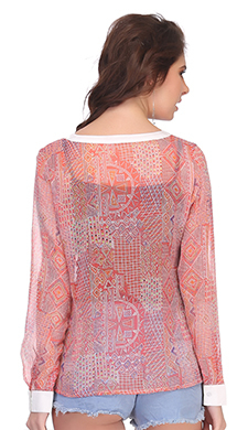 Chiffon Top In Light Pink