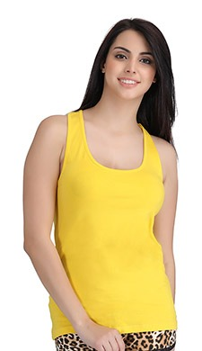 Stretchable Cotton Tank Top With Racerback - 50369
