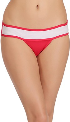 Contrast Low Waist Cotton Bikini Panty