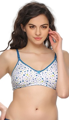 Cotton Bra In Bubble Print
