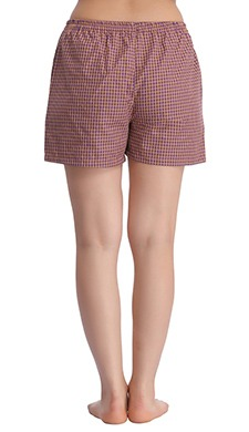 Cotton Checked Shorts