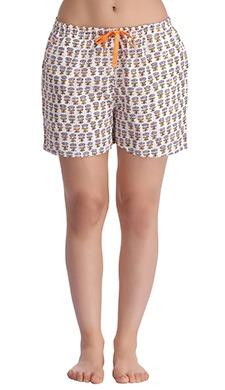 Cotton Floral Print Shorts
