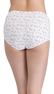 Cotton High Waist Floral Print Hipster