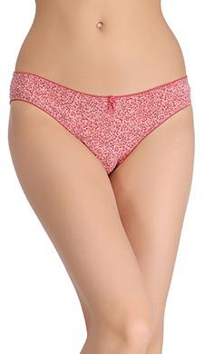 Cotton Low Waist Animal Print Bikini Panty
