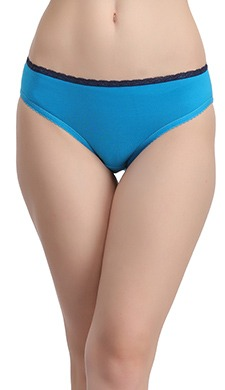 Cotton Low Waist Bikini Panty With Contrast Waistband