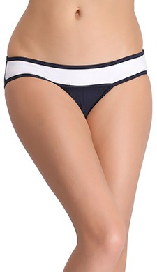 Cotton Low Waist Colourblocked Bikini Panty