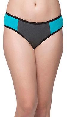 Cotton Mid Waist Colourblocked Bikini