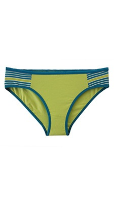 Cotton Mid Waist Bikini With Contrast Side Wings