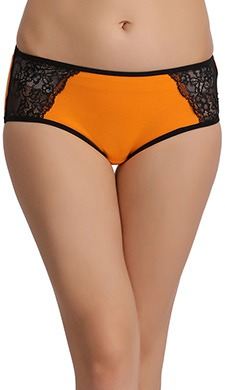Cotton Mid Waist Hipster with Lace Wings