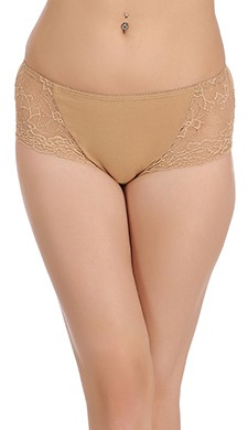 Cotton Mid Waist Hipster With Lacy Side Wings
