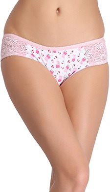 Cotton Mid Waist Printed Hipster Panty